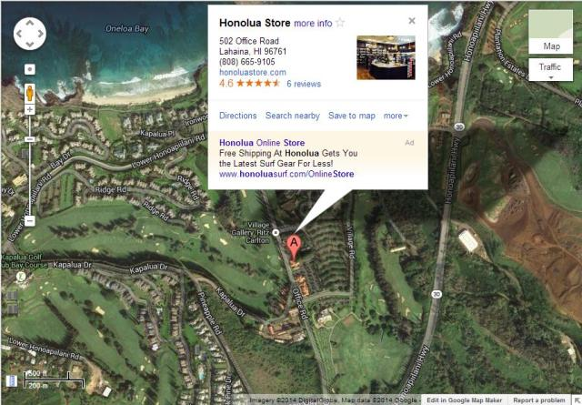 honolua map